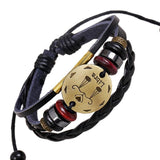 Moushart Deals Zodiac Bracelet Libra / Brown 12 Zodiac Constellations Leather Bracelet for Women