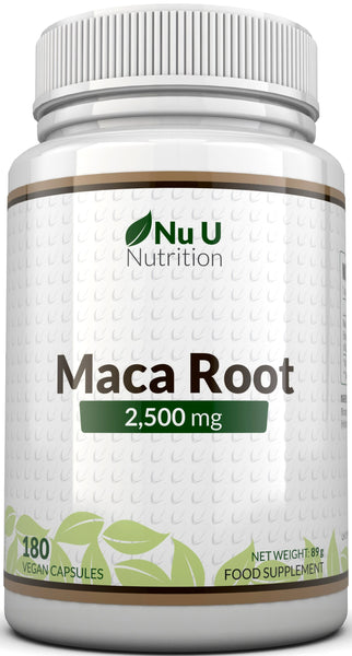 Maca Root 2500mg, 6 Month Supply - 180 Capsules