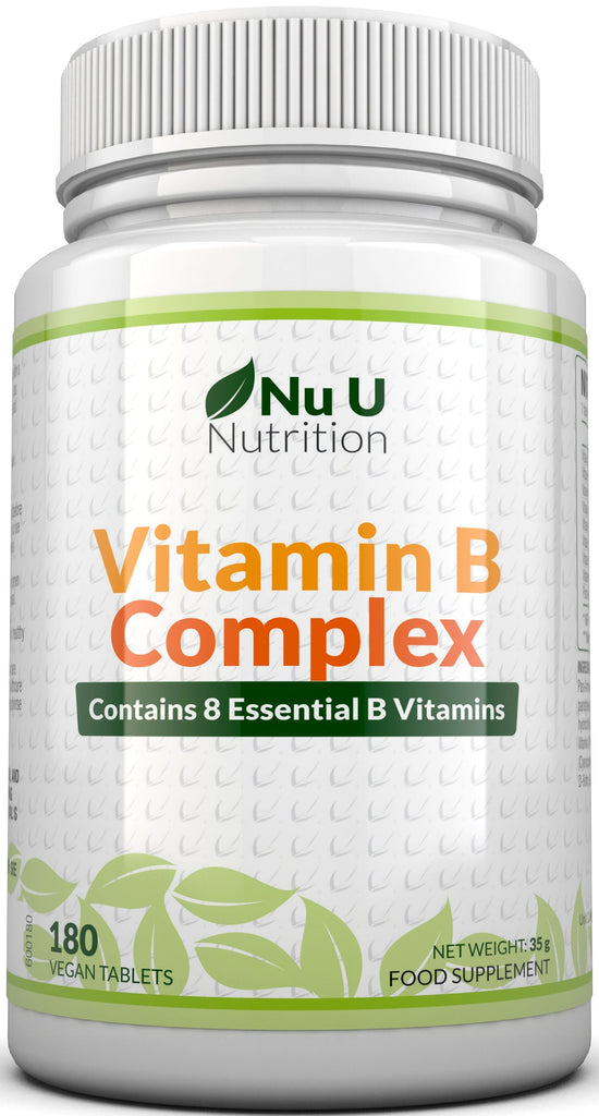 Vitamin B Complex - 6 Month Supply 180 Tablets