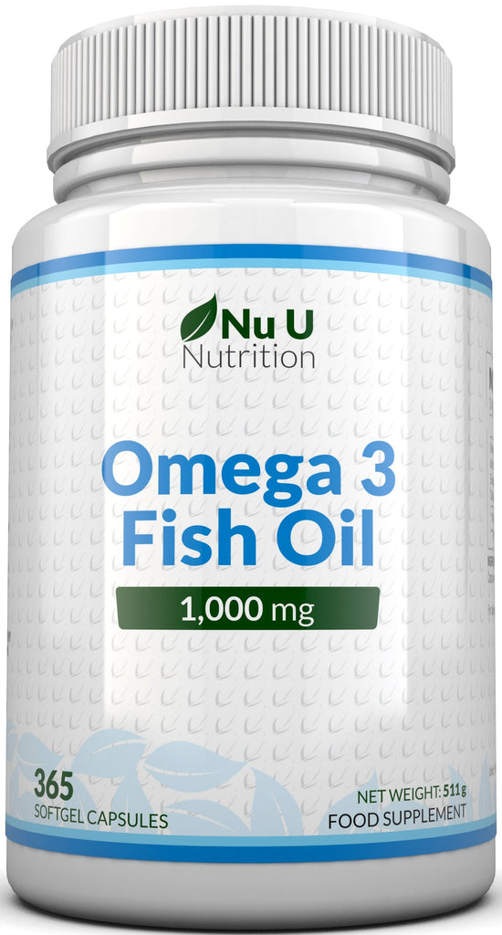 Omega 3 Fish Oil 1,000mg, 1 Year Supply - 365 Softgels