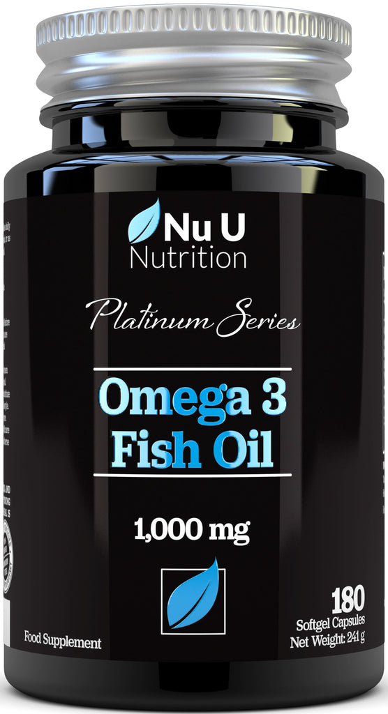 Omega 3 Fish Oil, Double Strength EPA and DHA, 180 Platinum Series Fish Oil Softgels