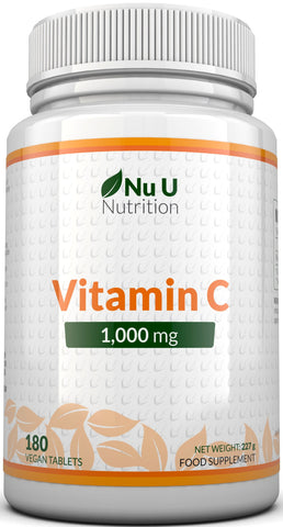 Vitamin C 1000mg, 180 Tablets, 6 Month Supply