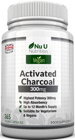 Activated Charcoal 300mg, 365 Capsules for 12 Month's Supply