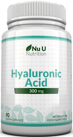Hyaluronic Acid 300mg Tablets, 90 Vegetarian & Vegan Capsules