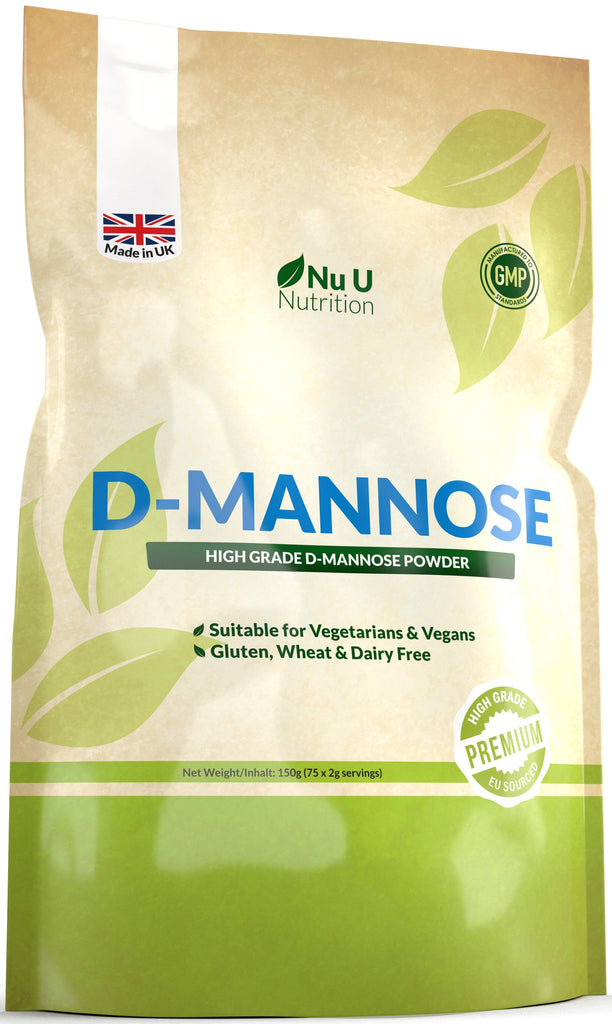 D-Mannose Powder 150mg, Vegetarian and Vegan, 75 Servings