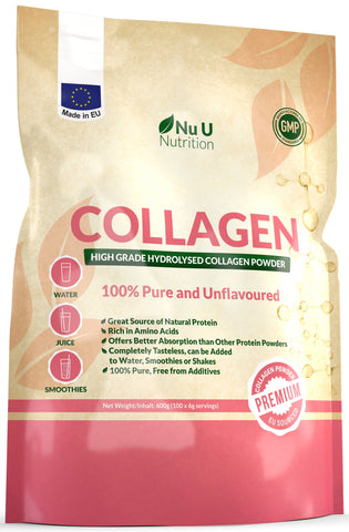 Collagen Powder 600g, High Quality Collagen Protein Powder, Unflavoured Hydrolysed Collagen in Resealable Pouch