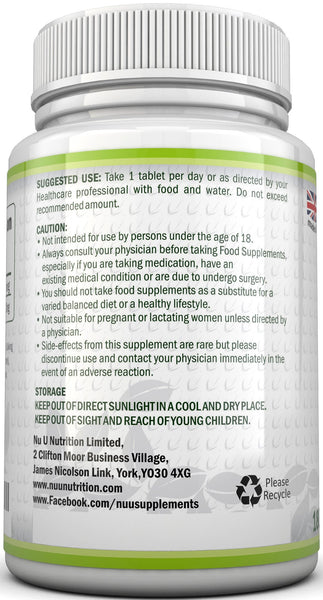 L-Lysine 1000mg, 180 Tablets -Full 6 Month Supply