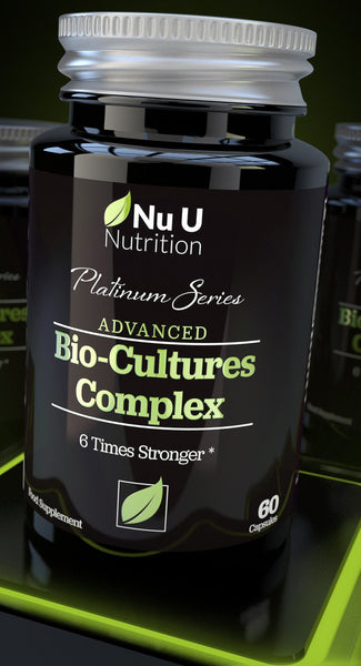 Platinum Series Bio Cultures Complex (Probiotic Strains), 60 Billion CFU Source Powder, 6 Billion Live CFU's, 60 Vegetarian Capsules