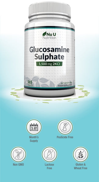Glucosamine Sulphate 1500 mg 2KCl Tablets, High Strength Glucosamine Supplement