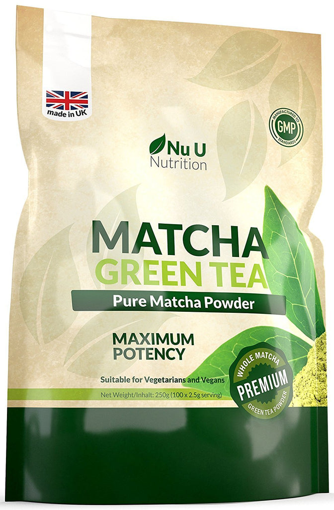 Matcha Green Tea Powder Vegan & Vegetarian- Premium Grade 250g Double Size Pouch of Matcha Green Tea