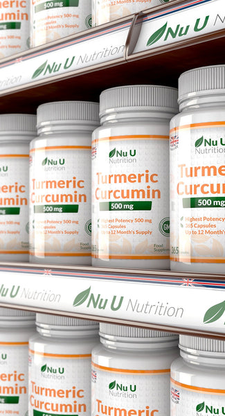 Turmeric Curcumin 500mg, 365 Capsules, 1 Year Supply