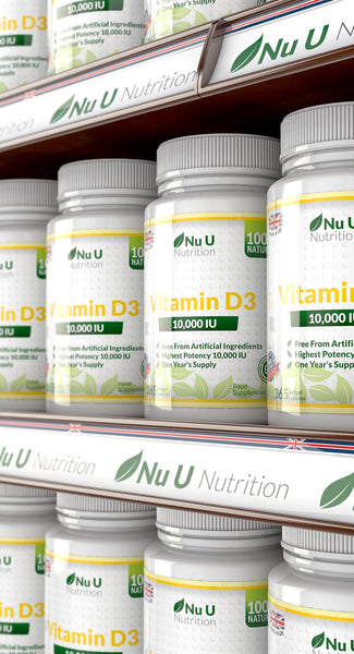 Vitamin D3 10,000 IU - 365 Softgels 1 Year Supply