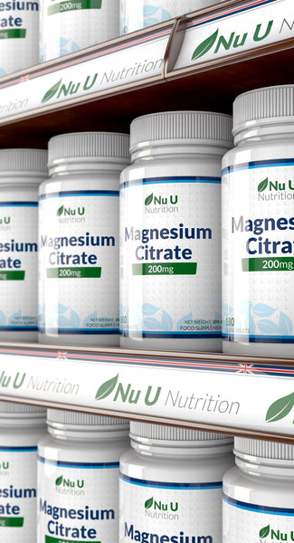 Magnesium Citrate 200mg, 180 Tablets, 6 Month Supply