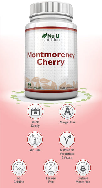 Montmorency Cherry Capsules, Freeze Dried Montmorency Cherry, 90 Vegetarian & Vegan Capsules