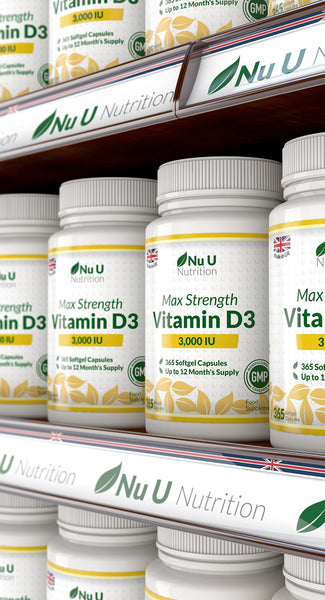 Vitamin D3 3,000 IU – 365 Softgels 1 Year Supply