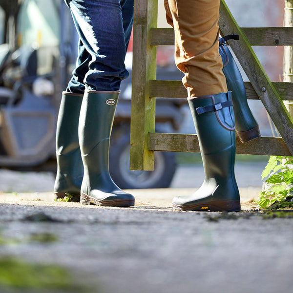 viking wide calf wellington boots