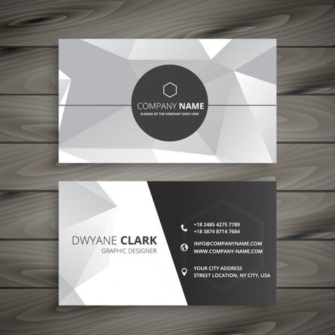 Abstract business card in gray - Impresiku.com
