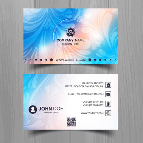 Beautiful business card with color effects - Impresiku.com