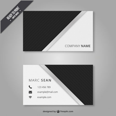 Black and white business card 1