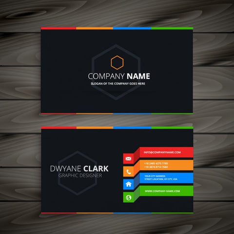 Black business card 3 - Impresiku.com