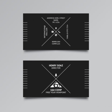 Black business card 1