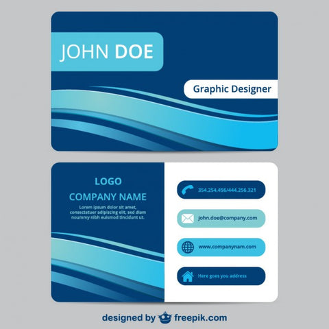 Blue business card template - Impresiku.com