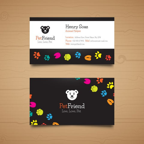 Business card for pet business