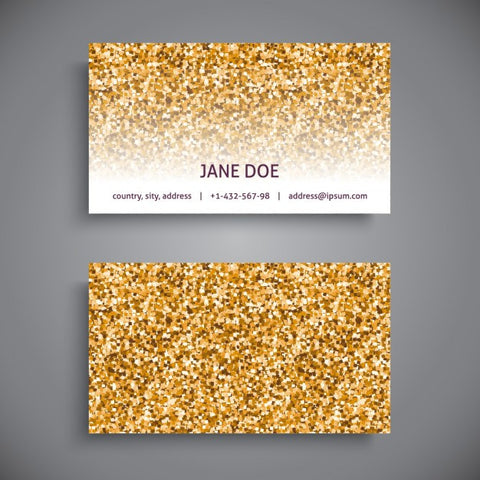 Business card glitter style - Impresiku.com