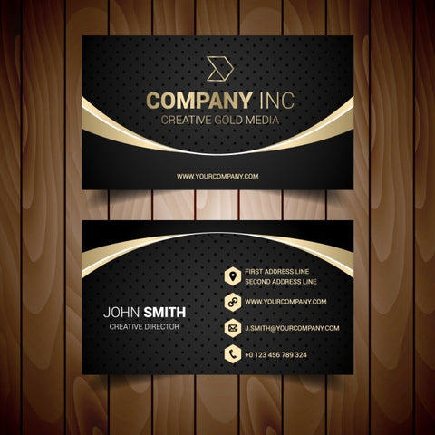 Business card template design 3 - Impresiku.com