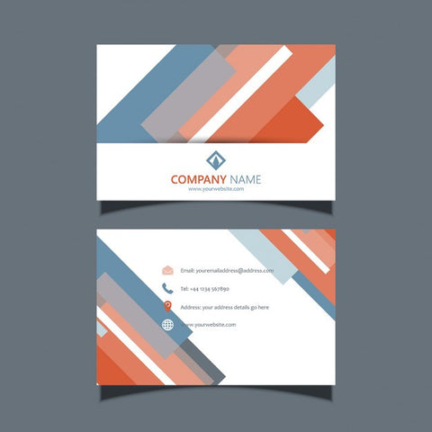 Business card template with a modern design - Impresiku.com