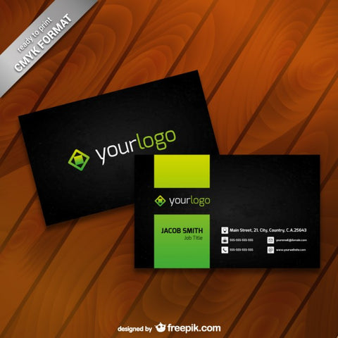 Business card template with logo - Impresiku.com