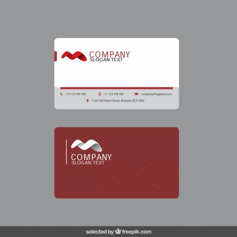Business card with 3d shape - Impresiku.com