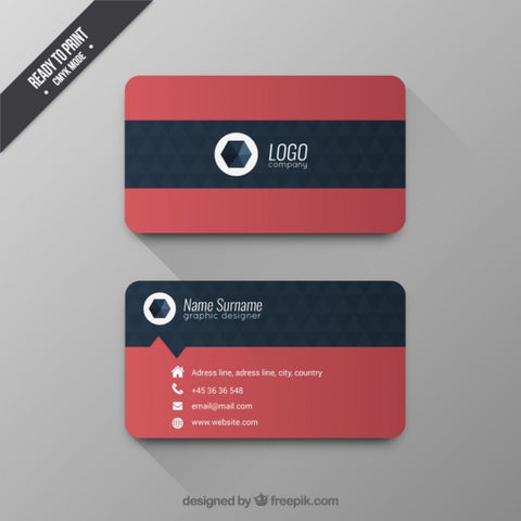 Business card with geometric pattern - Impresiku.com