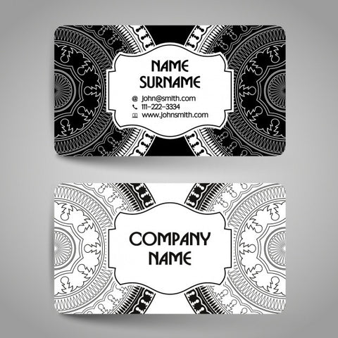 Business card with mandalas