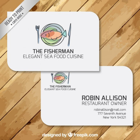 Business Cards of restaurant
