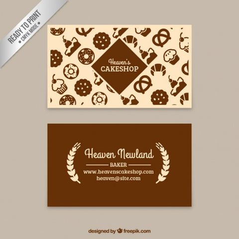 Cake shop business card - Impresiku.com