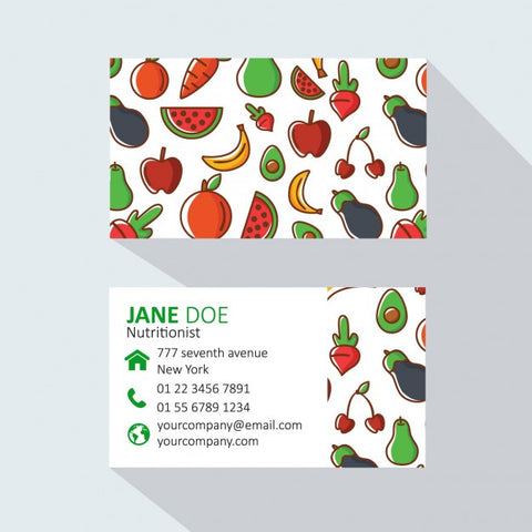 Fruits and vegetables business card