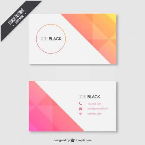 Geometric business card in summer tones