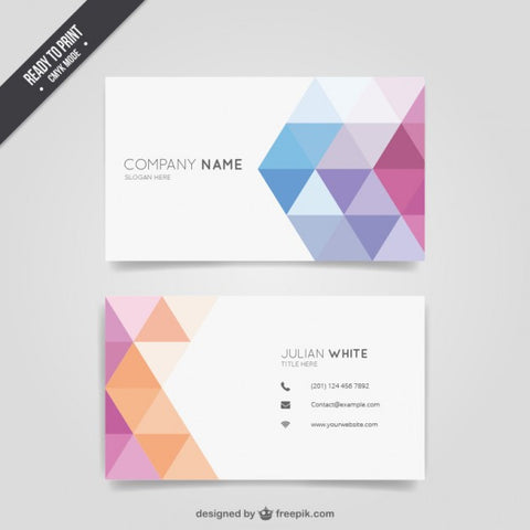 Geometric colourful business card