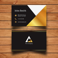 Golden Business Card Template - Impresiku.com