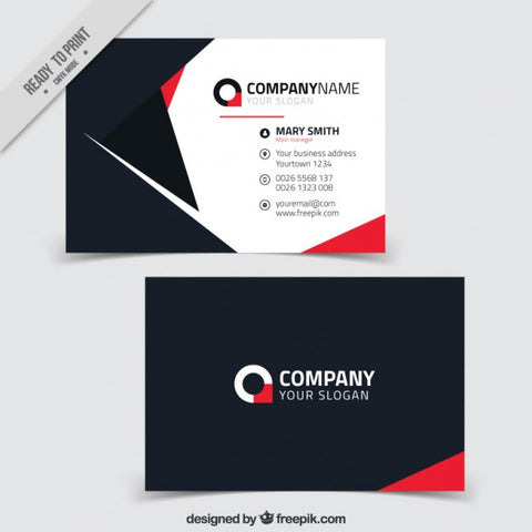 Great business card with red details - Impresiku.com