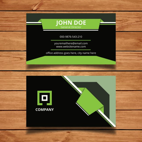 Green modern business card
