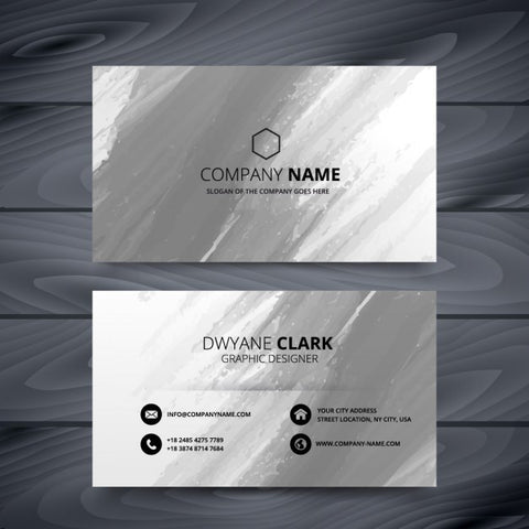 Grunge style business card