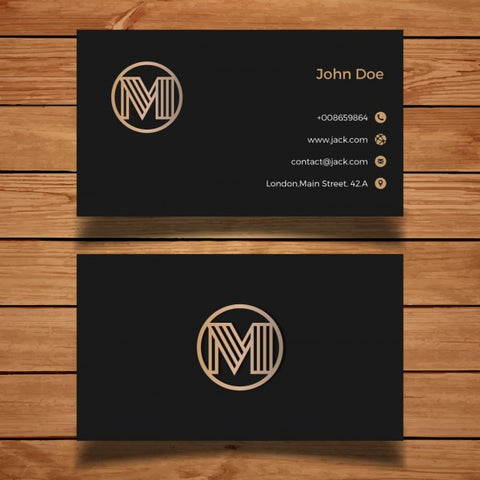 Luxury black and golden business card - Impresiku.com