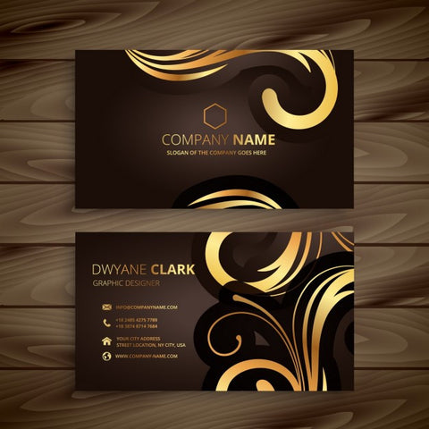 Luxury floral business card - Impresiku.com