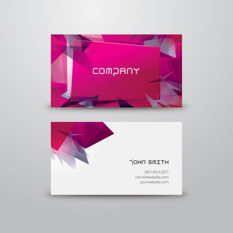 Modern and colorful business card