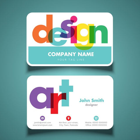 Modern and colorful business cards