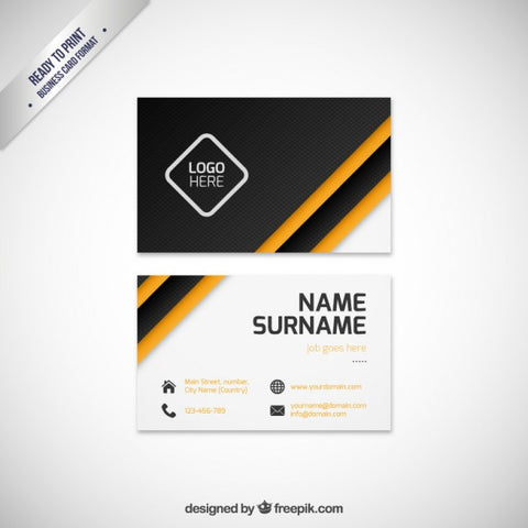 Modern business card template - Impresiku.com
