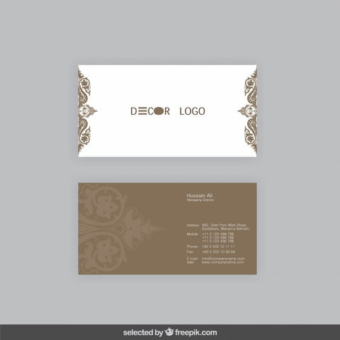 Ornamental business card
