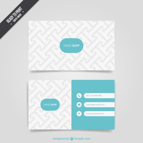 Pattern business card - Impresiku.com